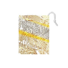 Abstract Composition Pattern Drawstring Pouches (Small)