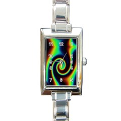 Background Colorful Vortex In Structure Rectangle Italian Charm Watch