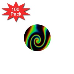 Background Colorful Vortex In Structure 1  Mini Magnets (100 pack)