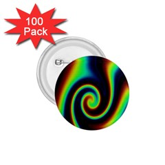 Background Colorful Vortex In Structure 1.75  Buttons (100 pack)