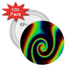 Background Colorful Vortex In Structure 2.25  Buttons (100 pack)