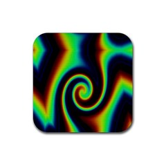 Background Colorful Vortex In Structure Rubber Coaster (square)