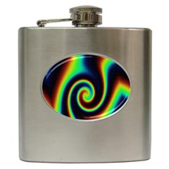Background Colorful Vortex In Structure Hip Flask (6 oz)