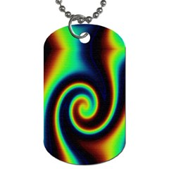 Background Colorful Vortex In Structure Dog Tag (Two Sides)