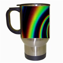 Background Colorful Vortex In Structure Travel Mugs (White)