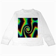 Background Colorful Vortex In Structure Kids Long Sleeve T Shirts