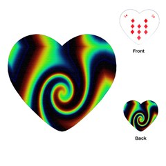 Background Colorful Vortex In Structure Playing Cards (Heart)
