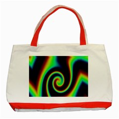 Background Colorful Vortex In Structure Classic Tote Bag (red)