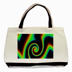 Background Colorful Vortex In Structure Basic Tote Bag (two Sides)