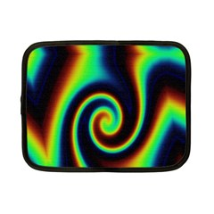 Background Colorful Vortex In Structure Netbook Case (small)