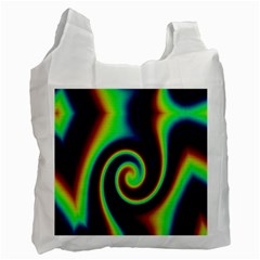 Background Colorful Vortex In Structure Recycle Bag (two Side)