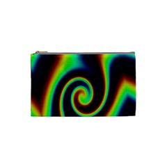 Background Colorful Vortex In Structure Cosmetic Bag (small)