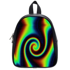 Background Colorful Vortex In Structure School Bags (small)