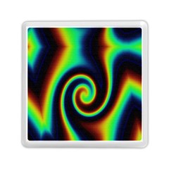 Background Colorful Vortex In Structure Memory Card Reader (square)