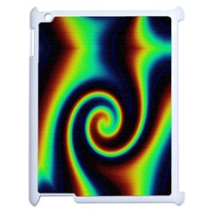 Background Colorful Vortex In Structure Apple iPad 2 Case (White)