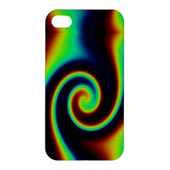 Background Colorful Vortex In Structure Apple iPhone 4/4S Hardshell Case
