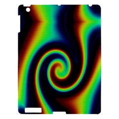 Background Colorful Vortex In Structure Apple Ipad 3/4 Hardshell Case