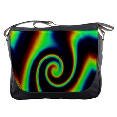 Background Colorful Vortex In Structure Messenger Bags