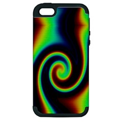 Background Colorful Vortex In Structure Apple iPhone 5 Hardshell Case (PC+Silicone)