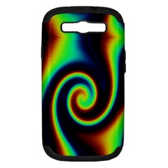 Background Colorful Vortex In Structure Samsung Galaxy S III Hardshell Case (PC+Silicone)