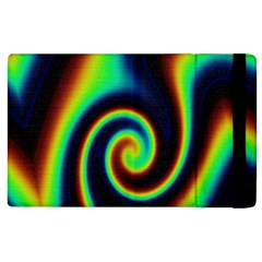 Background Colorful Vortex In Structure Apple Ipad 2 Flip Case