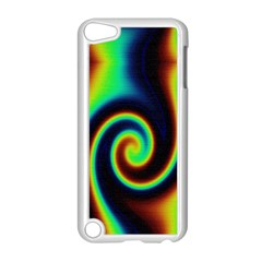Background Colorful Vortex In Structure Apple Ipod Touch 5 Case (white)