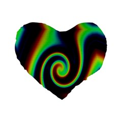 Background Colorful Vortex In Structure Standard 16  Premium Heart Shape Cushions