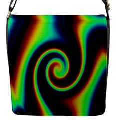 Background Colorful Vortex In Structure Flap Messenger Bag (S)