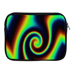 Background Colorful Vortex In Structure Apple iPad 2/3/4 Zipper Cases