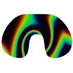 Background Colorful Vortex In Structure Travel Neck Pillows
