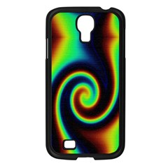 Background Colorful Vortex In Structure Samsung Galaxy S4 I9500/ I9505 Case (Black)