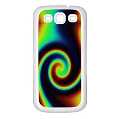 Background Colorful Vortex In Structure Samsung Galaxy S3 Back Case (White)
