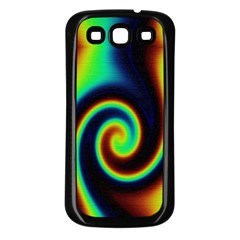 Background Colorful Vortex In Structure Samsung Galaxy S3 Back Case (Black)