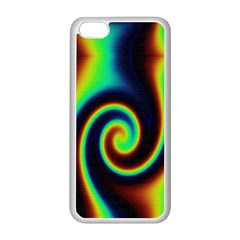 Background Colorful Vortex In Structure Apple iPhone 5C Seamless Case (White)