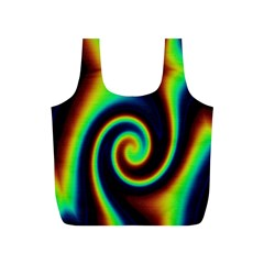 Background Colorful Vortex In Structure Full Print Recycle Bags (S)
