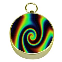 Background Colorful Vortex In Structure Gold Compasses