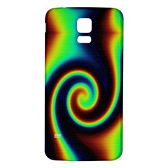 Background Colorful Vortex In Structure Samsung Galaxy S5 Back Case (white)