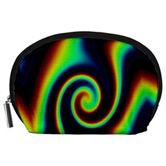 Background Colorful Vortex In Structure Accessory Pouches (Large)