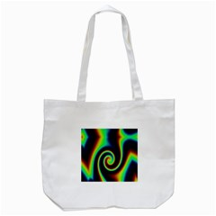 Background Colorful Vortex In Structure Tote Bag (White)