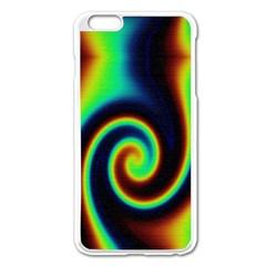 Background Colorful Vortex In Structure Apple iPhone 6 Plus/6S Plus Enamel White Case