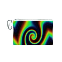 Background Colorful Vortex In Structure Canvas Cosmetic Bag (s)