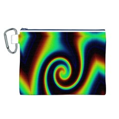Background Colorful Vortex In Structure Canvas Cosmetic Bag (l)