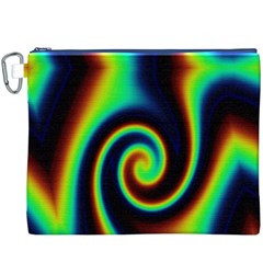Background Colorful Vortex In Structure Canvas Cosmetic Bag (XXXL)