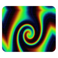 Background Colorful Vortex In Structure Double Sided Flano Blanket (Small)
