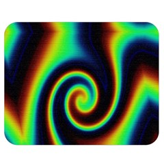 Background Colorful Vortex In Structure Double Sided Flano Blanket (Medium)