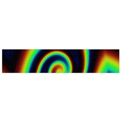 Background Colorful Vortex In Structure Flano Scarf (Small)