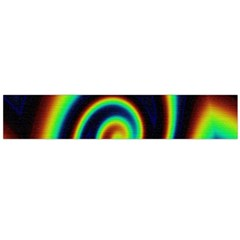 Background Colorful Vortex In Structure Flano Scarf (Large)