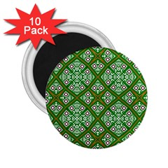Digital Computer Graphic Seamless Geometric Ornament 2 25  Magnets (10 Pack)