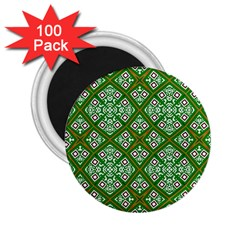 Digital Computer Graphic Seamless Geometric Ornament 2.25  Magnets (100 pack)