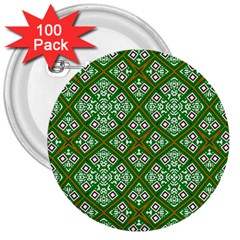 Digital Computer Graphic Seamless Geometric Ornament 3  Buttons (100 pack)